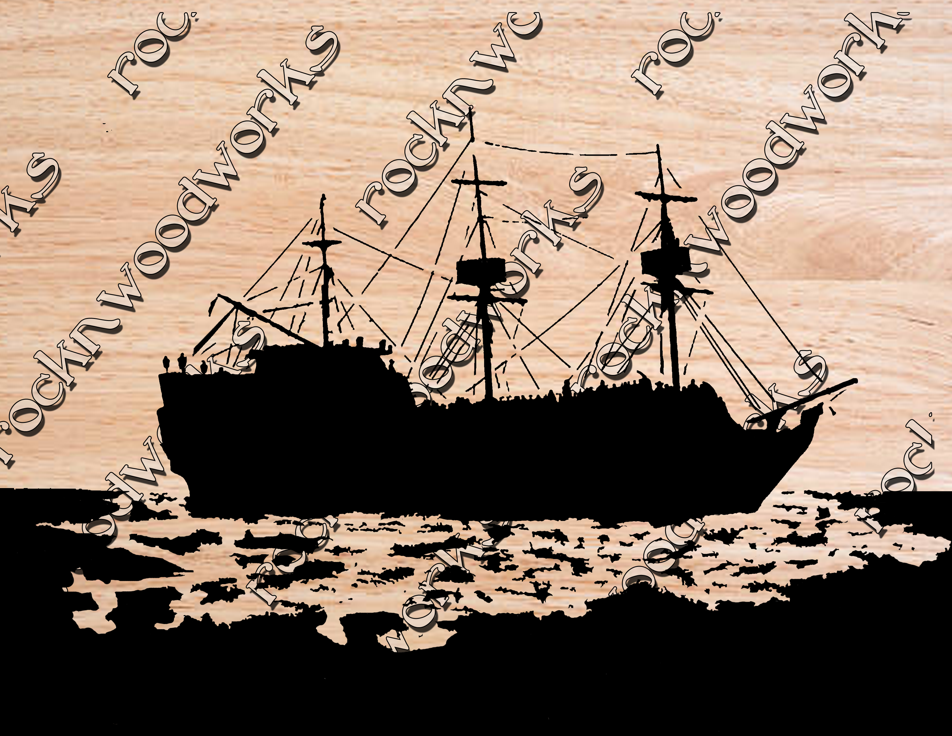 Free Ship On The Water Scroll Saw Pattern Maker Patterns