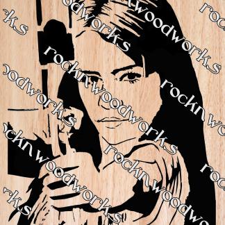Archer Woman scroll saw