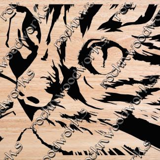Scroll Saw pattern Cat close up