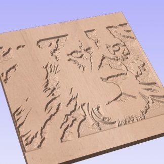 Lion cnc pattern