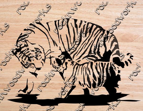 Tiger and Cub scroll saw pattern