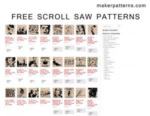 free scroll saw patterns page